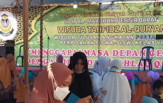 SD IT AL MAHDHURI Kabupaten Pesisir Barat mengadakan Wisuda Tahfidz Al quran