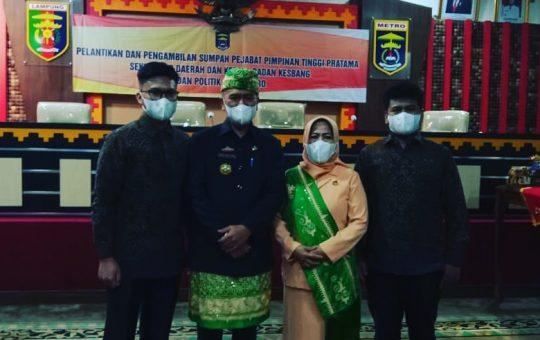Ir.Bangkit Haryo Utomo resmi dilantik Sebagai Sekretaris Daerah (Sekda) Kota Metro