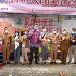 Dinas Ketahanan Pangan, Pertanian dan Peternakan (DKP3) Kota Metro bekerja sama dengan (DKP3) Provinsi Lampung dalam peringatan Hari Rabies sedunia (World Rabies Day)